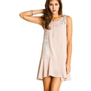 umgee blush lace dress